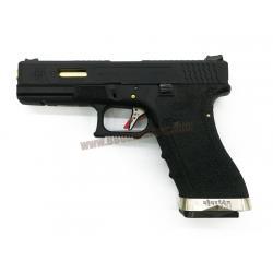 Glock17 Brand War T1 สไลด์ดำ ท่อทอง เฟรมดำ WE