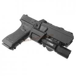 ซองพกนอกปลดไว(ขวา) Movable สำหรับ Glock 17/18(ที่ติดตั้งอุปกรณ์)