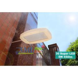 โคมไฟโซล่าเซลล์ ติดผนัง 30 super bright LEDs (พร้อมขายึด ตัวใหญ่) (เเสง : ขาว)