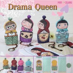 ผ้าพิมพ์ลาย Drama Queen