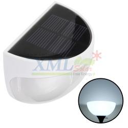 โคมไฟโซล่าเซลล์ ติดผนัง 6 LED ทรง ครึ่งวงกลม (เเสง : ขาว)