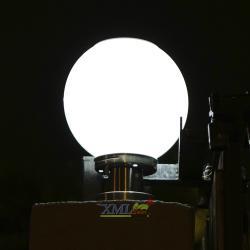 โคมไฟหัวเสาโซล่าเซลล์ ทรงกลม (25 ซม.) ฐาน สเเตนเลส (เเสง : ขาว)