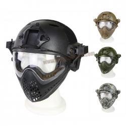 หมวก Fast Helmet PJ Type รุ่นปรับท้ายทอย พร้อมหน้ากากนักบิน HL-25