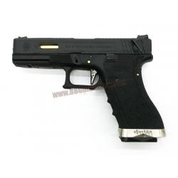 Glock18C Brand War T1 เฟรมดำ สไลด์ดำ ท่อทอง - WE