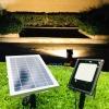 สปอตไลท์ปักสนาม 56 smd led เเผงโซล่าเซลล์ 6 watt (เเสง : เหลืองวอมไวท์)