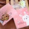 ถุงเบเกอรี่ ถุงขนมปัง แบบมีเทปกาว รูปกระต่าย สีส้ม 100 ใบ/ห่อ (10*10+3 cm.)