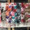 ผ้าพันคอ Pashmina พาสมีน่า ลายดอกไม้ PS04-002