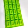 พิมพ์ซิลิโคน พิมพ์สบู่ รูปสี่เหลี่ยม 20 ช่อง ( 20G ± 5 G)