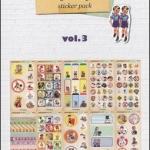 (10แผ่น/ชุด) สติ๊กเกอร์แนววินเทจจากเกาหลี Vintage Lively Child Sticker Pack Vol.3