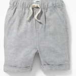 Toddlers shorts / Cuffed Linen-Blend Shorts.