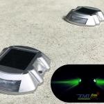 ไฟหมุดถนนโซล่าเซลล์ 6 LED รุ่น Robot (เเสง : เขียวกระพริบ)