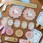 """(1 แผ่น/ชุด) สติ๊กเกอร์ """"For You"""" Sweet Lace Label Sticker / Gift Sticker"""