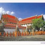 โปสการ์ด วัดพระเชตุพนวิมลมังคลารามราชวรมหาวิหาร กรุงเทพฯ /วัดโพธิ์/โบราณสถาน/พระสงฆ์-เณร