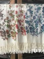 ผ้าพันคอ Pashmina พาสมีน่า ลายดอกไม้ PS04-004