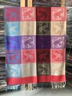ผ้าพันคอ Pashmina พาสมีน่า ลาย ไทย PS02010T-1