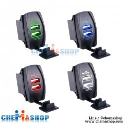 ช่องชาร์จ USB 5V กันน้ำ แบบมีไฟเรืองแสง