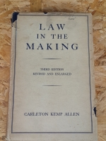 LAW IN THE MAKING / CARLETON KEMP ALLEN