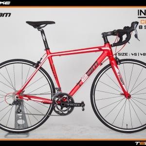 มีโปรส่วนลดเพิ่มเติม จักรยานเสือหมอบ Team Ininzio เฟรมอลู กระโหลกกลวง ดุมล้อแบริ่ง สีแดง ไซส์ 45 และ 48