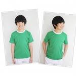 ไซส์ L เสื้อกีฬาสีเด็ก เสื้อกีฬาเปล่าเด็ก เสื้อกีฬาสีอนุบาล สีเขียว
