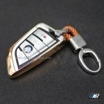 เคสกุญแจ BMW ทรงใบไม้ เนื้องาน TPU (AC101) **สีทอง**