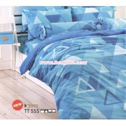 ชุดเครื่องนอนtoto ผ้าปูที่นอนtoto ลายสามเหลี่ยม TT555