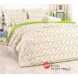 ชุดเครื่องนอน ผ้าปูที่นอน ลายจุด TT571