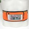 กระเป๋าคาดเอววิ่ง สีส้ม ทัชสกรีน ช่องใส่ของ 3 ซิป มีรูเสียบหูฟัง