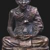 รูปเหมือนหล่ออุดกริ่ง หลวงปู่หลิว วัดไร่แตงทอง นครปฐม ปี๒๕๓๙ กองทัพบกสร้าง เนื้อทองแดงรมดำ