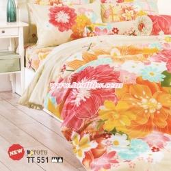 ชุดเครื่องนอน ผ้าปูที่นอน ลายดอกไม้ TT551