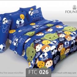 ชุดเครื่องนอน ผ้าปูที่นอน ลายสตาร์วอร์ FTC026