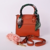 CHARLES & KEITH SCARF WRAPPED HANDLE BAG *ส้ม