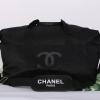 Chanel Authentic VIP Gift Bag Duffle Gym Travel โลโก้ดำ