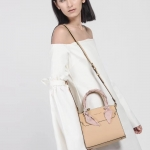 CHARLES & KEITH SCARF WRAPPED HANDLE BAG *ครีม