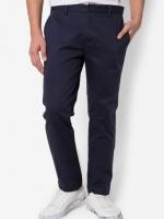 กางเกงขายาว Chino Slim สีกรมท่า