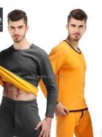 ชุดลองจอนผู้ชาย รุ่นวุลพรีเมี่ยม เสริมผ้าฟรีซเพิ่ม งานสั่งผลิตพิเศษ สีเทา