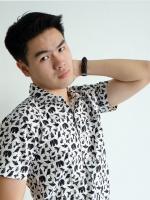 เสื้อเชิ๊ตแขนสั้น Paper animal (สีขาว)