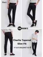 กางเกงสแลค สีดำ ผ้าชาลี