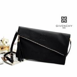 Givenchy Parfums Black Leather Clutch -สีดำ สำเนา