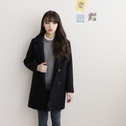เสื้อโค้ท เสื้อคลุมกันหนาว ทรงสวย แบบเรียบร้อยดูดี สีดำ