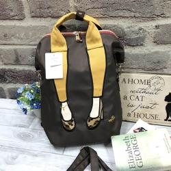 Mis Zapatos Nylon Backpack *brown