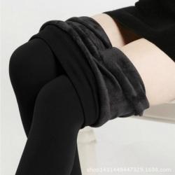 Legging เลกกิ้งกันหนาว สีดำ ด้านในเป็นขนนุ่ม ยืดได้เยอะ กระชับทรง