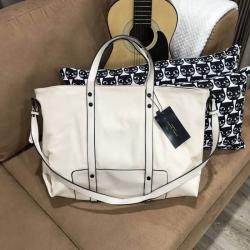 Zara trf leather tote bag