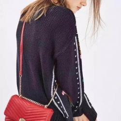 Topshop Shoulder Bag With Chain-แดง