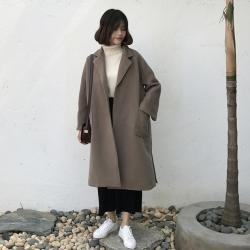 OverCoat เสื้อโค้ทกันหนาว สไตล์เกาหลี ทรงใหญ่ สีกะปิ