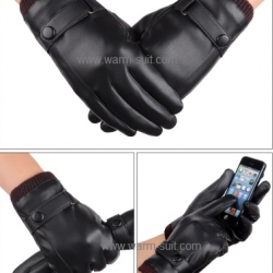 ถุงมือหนังผู้หญิง บุวูลด้านในทัชสกรีนได้