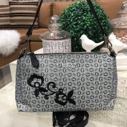 GUESS SHOULDER BAG WITH EXTRA STRAPS 2018 *เทา