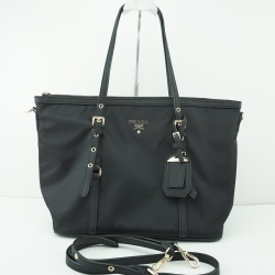 Prada premium gift Tessuto/Saffiano Bag -สีดำ