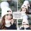 หมวกไหมพรม&ผ้าพันคอ 3in1 บุเฟอร์ด้านใน #3 thumbnail 1