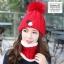 หมวกไหมพรม&ผ้าพันคอ 3in1 บุเฟอร์ด้านใน #3 thumbnail 11