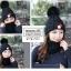 หมวกไหมพรม&ผ้าพันคอ 3in1 บุเฟอร์ด้านใน #3 thumbnail 2